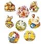 Modellieren Casting mold, Easter motifs, 8 motifs, each 4 x 5 cm