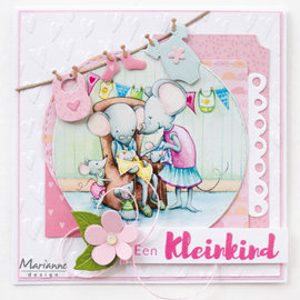 "Marianne Design 2x A4, picture sheets, cute baby mouse ""Hetty"""