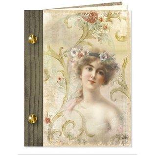 Knutselset, vintage boekkaarten, 6 stuks!