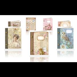 Ensemble d'artisanat, cartes de livre vintage, 6 pièces!