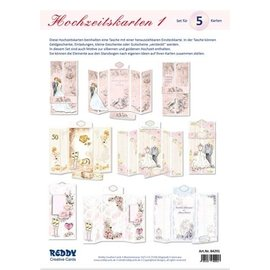 Håndværkssæt, til design af 5 foldede bryllupskort!