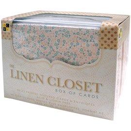 DCWV und Sugar Plum DCWV, linen closet, box with 40 cards, 40 envelopes, format A2!