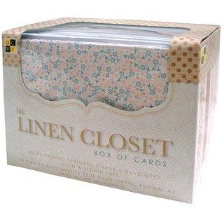 DCWV und Sugar Plum DCWV, Linen Closet, Box mit 40 Karten, 40 Umschlägen, Format A2!