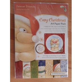 Forever Friends Forever Friends, Cozy Christmas, A4 Paper Pack + 12 Foiled Cards + 12 Envelopes