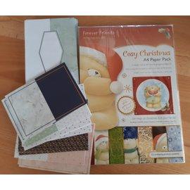 Forever Friends Evige venner, hyggelig jul, A4-papirpakke + 12 folierede kort + 12 konvolutter
