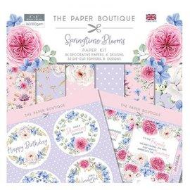 """Karten und Scrapbooking Papier, Papier blöcke NUEVO! ¡Bloque de papel, 20,5 x 20,5 cm + 32 adornos (perforado)! De la colección """"Springtimes Blooms"""""""