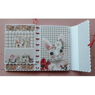 Karten und Scrapbooking Papier, Papier blöcke NIEUW! Papierblok, A4, 120 g / m², 40 vellen, Happy Days-collectie