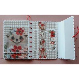 Karten und Scrapbooking Papier, Papier blöcke NYHED! Papirblok, A4, 120 g / m, 40 ark, Happy Days-kollektion