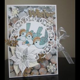Stempel / Stamp: Transparent Timbro, Trasparente, 3 uccelli