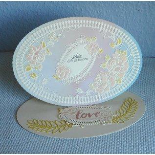 Tattered Lace Snijmallen, vintage labels (labels) beperkt!