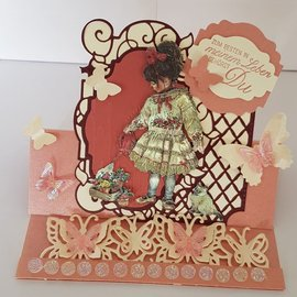 "reddy 3D stamping sheet metal engraving, Dufex ""Paintbox Poppets 1"", designs: Christine Haworth"