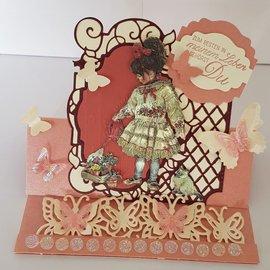 """reddy Grabado en 3D de chapa, Dufex """"Paintbox Poppets 1"""", diseños: Christine Haworth"""