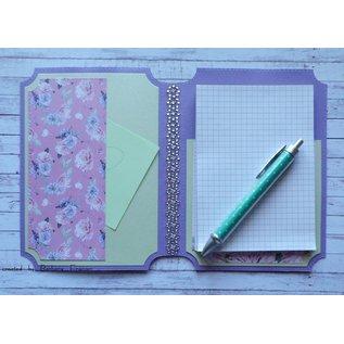 Karten und Scrapbooking Papier, Papier blöcke NIEUW! Papierblok, Serenity Garden, 36 vellen, 6x6 ontwerpen, 20 x 20 cm, 160/300 gsm + 32 toppers!
