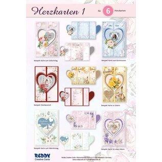 Knutselset compleet voor het ontwerpen van 6 hartkaarten!