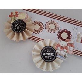 Komplett Sets / Kits Craft Kit: material set for 6 pcs rosettes, D: 8 cm, 160 g