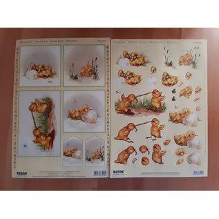 3D punched sheet + motif sheet: cute chicks