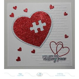 Elisabeth Craft Dies , By Lene, Lawn Fawn Snijmallen, Puzzle Heart