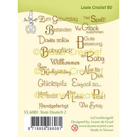 Leane Creatief - Lea'bilities und By Lene Silicone stamp texts German