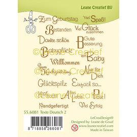 Leane Creatief - Lea'bilities und By Lene Textos de sellos de silicona en alemán