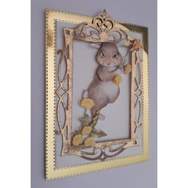 """Bilder, 3D Bilder und ausgestanzte Teile usw... 3D Stanzbogenset """"Bunny"""", 1 pattern sheet and 1 die cut sheet, A4"""