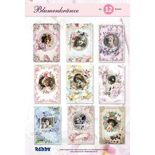 NIEUW! Knutselset bloemenkransen! 12 romantische wenskaarten ontwerpen!