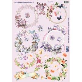NOUVEAU! Couronnes de fleurs en feuille découpées