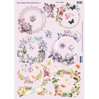 NEW! Die cut sheet flower wreaths