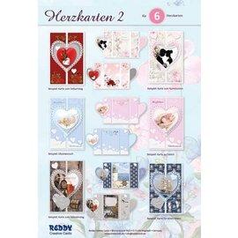 Set de manualidades, para 6 bonitas tarjetas de corazón, A6!