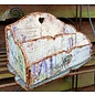 BASTELSETS / CRAFT KITS NUOVO! Organizzatore MDF - Cassetta degli attrezzi, 16,4x27,4 cm