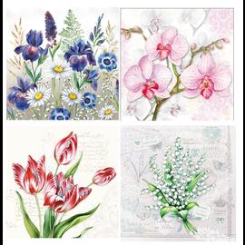 DECOUPAGE AND ACCESSOIRES Serviette design 4 x 2, fleurs