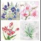 DECOUPAGE AND ACCESSOIRES 4 x 2 designer serviet, blomster