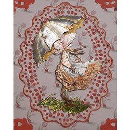 A4 Stanzbogen, 3 hübsche Motive in Metallgravur