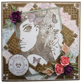 Joy!Crafts / Jeanine´s Art, Hobby Solutions Dies /  Clear stempel, Silhouet Lady