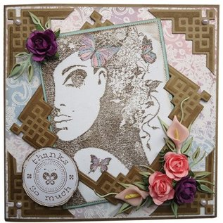 Joy!Crafts / Jeanine´s Art, Hobby Solutions Dies /  Transparent stamp, silhouette lady