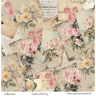 LaBlanche Designer paper, 30.5 x 30.05 cm, printed on both sides, vintage