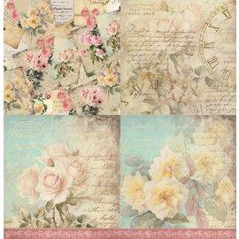 LaBlanche Papel de diseño, 30.5 x 30.05 cm, impreso en ambos lados, vintage