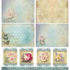 LaBlanche Designerpapier, 30,5 x 30,05 cm, dubbelzijdig bedrukt, vintage
