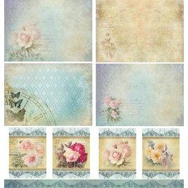LaBlanche Papier design, 30,5 x 30,05 cm, imprimé des deux côtés, vintage