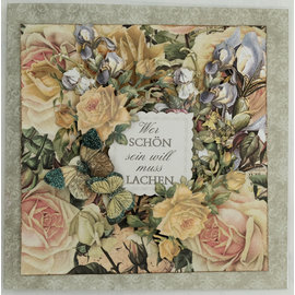 LaBlanche Designer paper, 30.5 x 30.05 cm, printed on both sides, flower collage