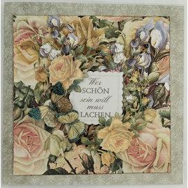 LaBlanche Designerpapir, 30,5 x 30,05 cm, trykt på begge sider, blomstercollage