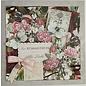 LaBlanche Papel de diseño, 30.5 x 30.05 cm, impreso en ambos lados, collage de flores