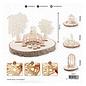 Holz, MDF, Pappe, Objekten zum Dekorieren Huwelijksdecoratie in hout: paar op een brug