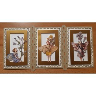3D punched sheet with 3 flowers angel