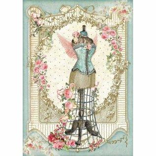 Stamperia und Florella Rijstpapier, A4, vintage, mannequin
