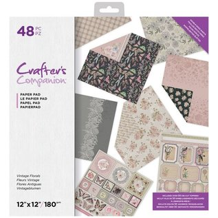 Crafter's Companion Exclusief! Vintage Florals 30,5 x 30,5 cm, 32 vellen, designer block!