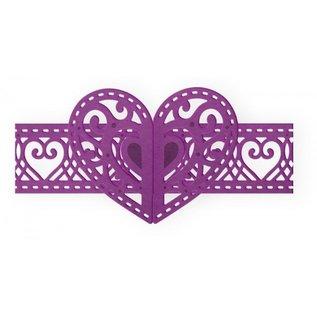 "Gemini Snijmallen / Snijsjablonen, Gemini Elements, Love Heart, 3.9"" x 1.8"" (9.9cm x 4.5cm)"