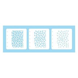 Magic Stencil Sunburst, 3 pieces combi set!
