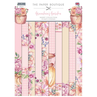 CREATIVE EXPRESSIONS und COUTURE CREATIONS New! The Paper Boutique, Grandma´s Garden, A4 paper block, 40 sheets, 10 designs