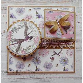 Karten und Scrapbooking Papier, Papier blöcke NYHED! Papirblok, Serenity Garden, 36 ark, 6x6 designs, 20 x 20 cm, 160/300 gsm + 32 toppers!