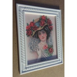 HCP NEW! 3D decorative frame 9.5 x 7.5 cm, 4mm thick, made of plastic
